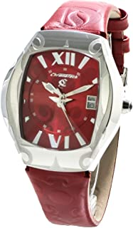 Chronotech Womens Analogue Quartz Watch with Leather Strap CT7693L-03
