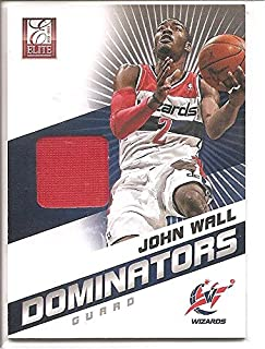 John Wall Washington Wizards 2012-13 Panini Elite Dominators Jersey Memorabilia Basketball Card #16