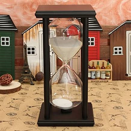 Generic 60 Minutes Wooden Frame Sandglass Hourglass Sand Timer Home Decor Gift