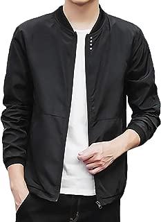 Realdo Mens Casual Jacket Autumn Peacoat Men's Solid Baseball Coats Slim Sport Outwear Clothing