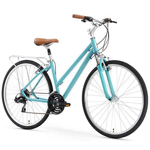 sixthreezero Pave n' Trail Women's 21-Speed Hybrid Road Bicycle, Teal 26' Wheels/ 17' Frame