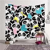 YYRAIN 3D-Druck Niedliche Tiere Spielen Tapisserie Home Wandkunst Kinderzimmer Dekoration Geschenk Tapisserie Bettwäsche 59x39 Inch{150x100cm} D