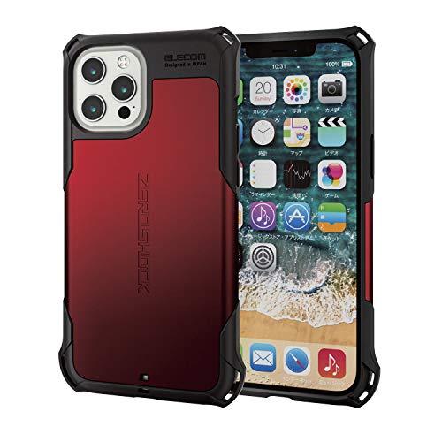 エレコム iPhone 12 Pro Max ケース ハイブリッド ZEROSHOCK 耐衝撃 スタ…