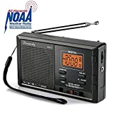 DreamSky Portable AM FM WB NOAA Weather Radio Alarm Clock, 12 /24H Time Display Backlight, Sleep...
