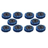 """10 Pack 2"""" Quick Change Roloc Easy Strip & Clean Discs for Paint Rust"""