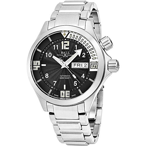 Ball Engineer Master II Diver Black Face Day-Date Swiss Automatic Stainless Steel Men's Watch