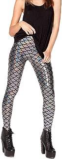 Femme Sirène Mermaid Ecaille Poisson Collants Leggings Pantalon Stretch Brillant