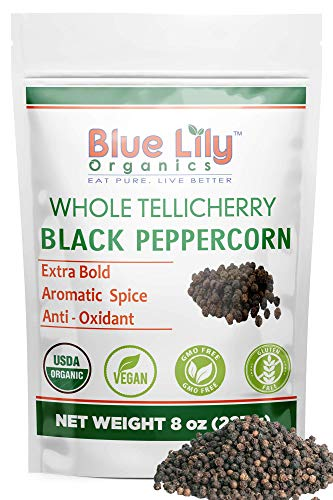 Blue Lily Organics Tellicherry Black Peppercorns