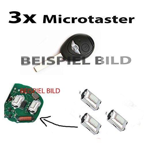 Lot de 3 micro boutons-poussoirs pour télécommande de clé de voiture