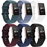Recoppa Compatible for Fitbit Charge 3/Charge 4 Bands for Women Men, Waterproof Sport