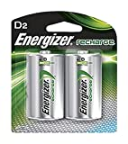 Energizer D-2 Rechargeable Battery 2 pack