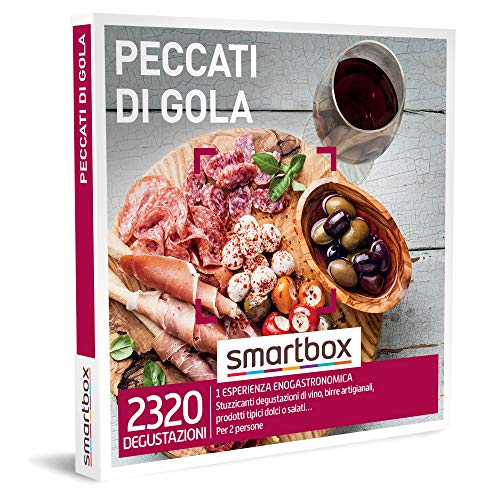 Smartbox - Peccati di Gola - Cofanetto Regalo Coppia, 1 Esperienza Enogastronomica per 2 Persone, Idee Regalo Originale