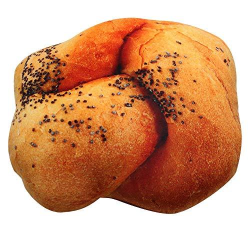 JJFU Kussen vorm Kussen Hoofdkussen Nieuwe 3D Soft kussen pluche kussen simulatie brood zitkussen decoratie moderne PP katoen vulling comfortabele kussen