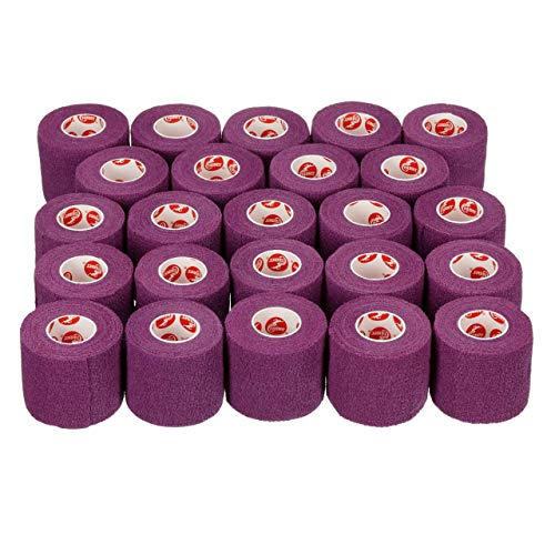 Cramer Eco-Flex Self-Stick Stretch Tape, Cohesive Tape, Flexible Elastic Sports Tape, Athletic Training Supplies, Easy Tear Self-Adherent Bandage Wrap, Bulk Cases, 6 Yard Rolls, Compression Tape