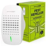 BRISON Ultrasonic Pest Repeller - Easy & Humane Way to Reject Rodents Ants Cockroaches Beds Bugs Mosquitos Fly Spiders Rats 1 Pack