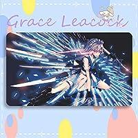 GraceLeacock カードゲームプレイマット 遊戯王 プレイマット 東方Project いざよい さくや TCG万能 収納ケース付き アニメ 萌え カード枠なし (60cm * 35cm * 0.4cm)
