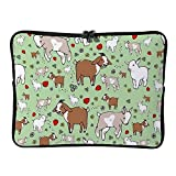 Goats Home 10 Inch Protective Laptop Sleeve Ultrabook Notebook Carrying Case Compatible with MacBook Pro MacBook Air Tablet Briefcase Bag