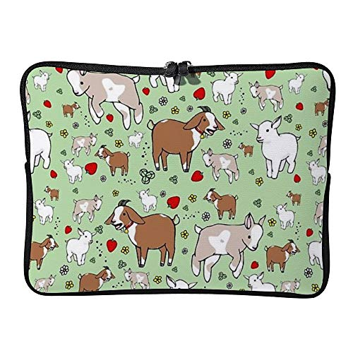 Goats Home 15 Inch Protective Laptop Sleeve Ultrabook Notebook Carrying Case Compatible with MacBook Pro MacBook Air Tablet Briefcase Bag