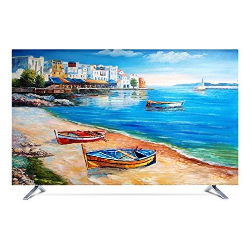 catch-L Funda para Monitor Funda para televisor de Interior TV Decoración De La Fibra de Poliéster para Televisor de 48' - 80' LCD, LED -GAOGUIMEI Cubierta Antipolvo(Size:49inch,Color:Venecia)