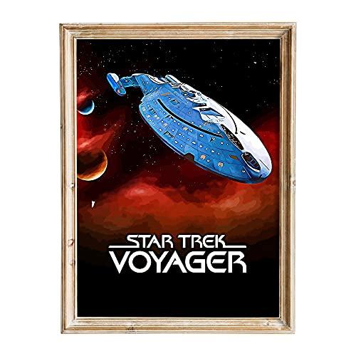 FANART369 Star Trek Voyager #2 Poster A2 Größe Fanart Movie Poster Wall Art Print Decor 42 x 59,4 cm randlos