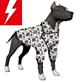 LovinPet Dog Jacket, Dog Sweater Winter Coat for Large Dogs, Flannel Materials Warm Dog Pajamas for Big Dogs (Pitbull, Boxer, Mixed Lab, Doberman, Short-haired Breeds, etc.)