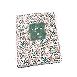 Vektenxi - Diario para portátil, diseño de Flores, Color Rojo,...
