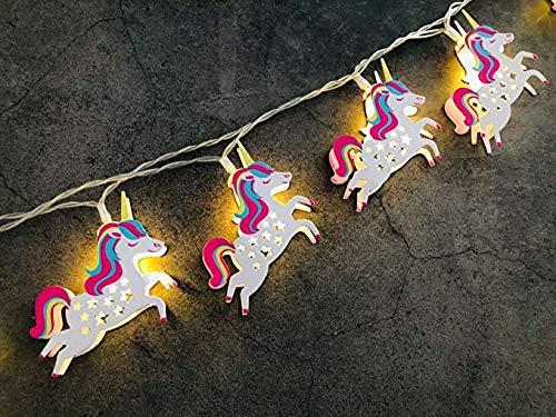 Einhorn Lichterkette Batterie 10 LED Girlande Lichter Innen LED Lichterkette Party Weihnachtsbeleuchtung (Fliegendes Einhorn)