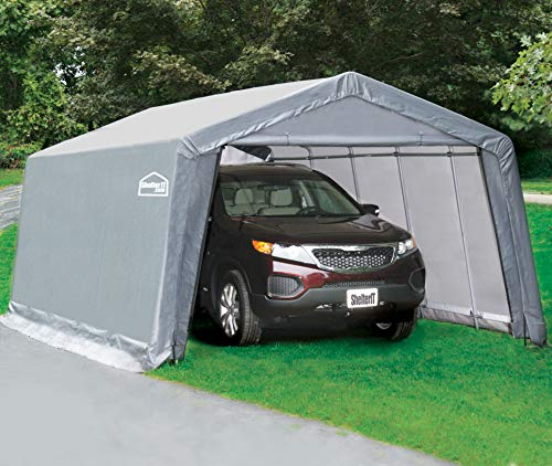 Shelter Giant 11016 Shed, Instant Garage, 10'x16', Gray