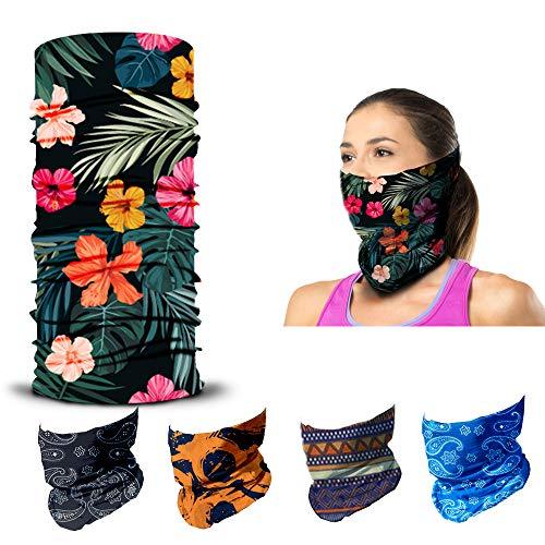 ARMORAY Face Mask Washable & Reusable Balaclava Neck Gaiter - Sun Protection Bandana Scarf Masks for Men & Women Hiking Fishing (Costa Rican)
