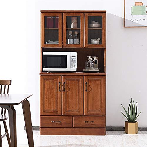 MELLRO Anrichte Schrank 2 Schublade großer offener Raum for Mikrowellen lang andauernden Küchenschrank mit Oben Unten geschlossener Schrank Raum Wohnzimmer Entryway Tür Schlafzimmer