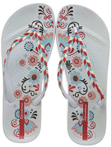 Ipanema Anat Lovely X Fem, Chanclas para Mujer, Multicolor (White/White 9123.0), 38 EU
