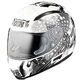 IXS X-Helm HX 215 RUBIN weiss-silber-rot, Größe:Medium, Farbe:weiss-silber-rot