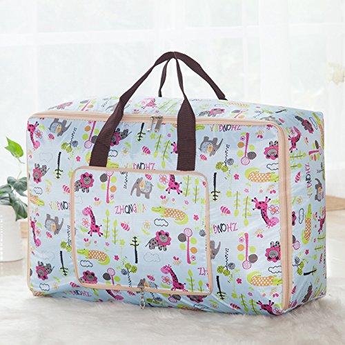 MZP Roi installé des sacs de poche de couette épaisse déplacer Oxford Bucarest sacs à bagages sacs emballés de boîte de rangement de vêtements de finition , dark headphones , m 55*35*20cm
