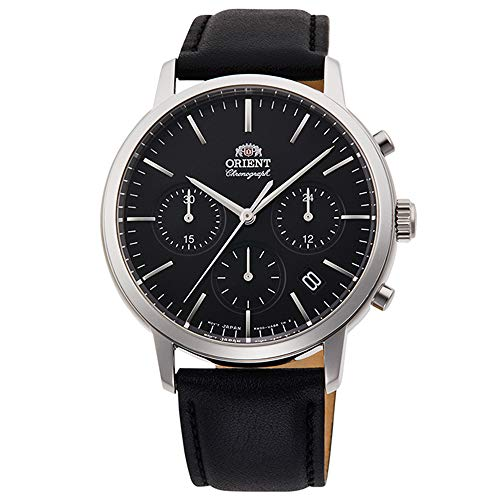 Orient Herren Chronograph Quarz Uhr mit Leder Armband RA-KV0303B10B