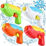 Water Guns for Kids - 4 Pack Water Squirt Guns for Kids Toddlers, 16.4 FT Long Shooting Range Water Gun Toys for Summer Parties, Outdoor Pool Beach Water Fighting Toys for Toddlers Age 3-10