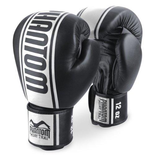 Phantom Boxhandschuhe MT-Pro PU - Schwarz/Weiss - Boxhandschuhe 10oz 12oz 14oz 16oz (10 Unzen)