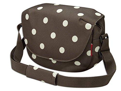 KLICKfix Farradtasche Funbag, Braun - Mocha Dots, Einheitsgröße