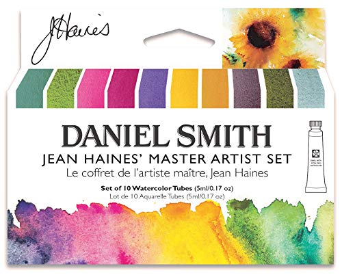DANIEL SMITH Watercolor, 5ml tubes, Jean Haines Master Artist Set 10 Watercolor Tubes (total 10 pieces) 285610223