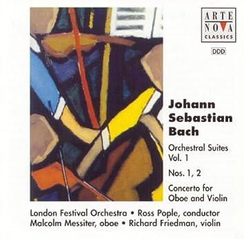 Bach: Orchestral Suites Vol. 1 No. 1+2 Concerto For Oboe And Violin