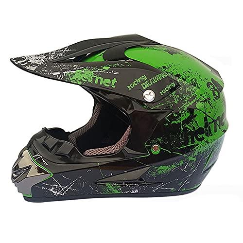 LIULIFE Casco Motocross Cascos De Cross Casco De Descenso Cascos Motocross Infantil Set Casco MTB Integral para Adulto con Design para BMX ATV Downhill Dirt Bike Enduro MTB
