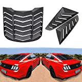 Dixuan Auto Parts Rear and Side Window Louvers Matte Black ABS Windshield Sun Shade Cover in GT Lambo Style for Ford Mustang 2015 2016 2017 2018 2019 2020
