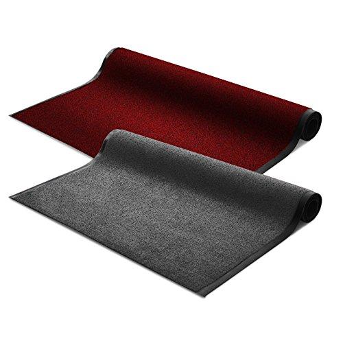 Floordirekt EVEREST Schmutzfangmatte Schmutzfangläufer Sky | anthrazit | ideale Größe wählbar, Meterware (150x120 cm)