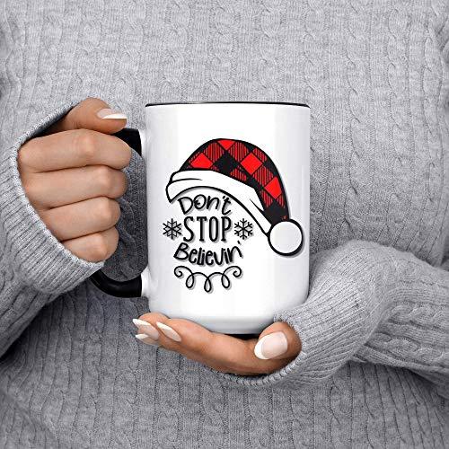 Kaffeetasse mit Aufschrift 'Don't Stop Believin', Weihnachtsgeschenke, lustige...