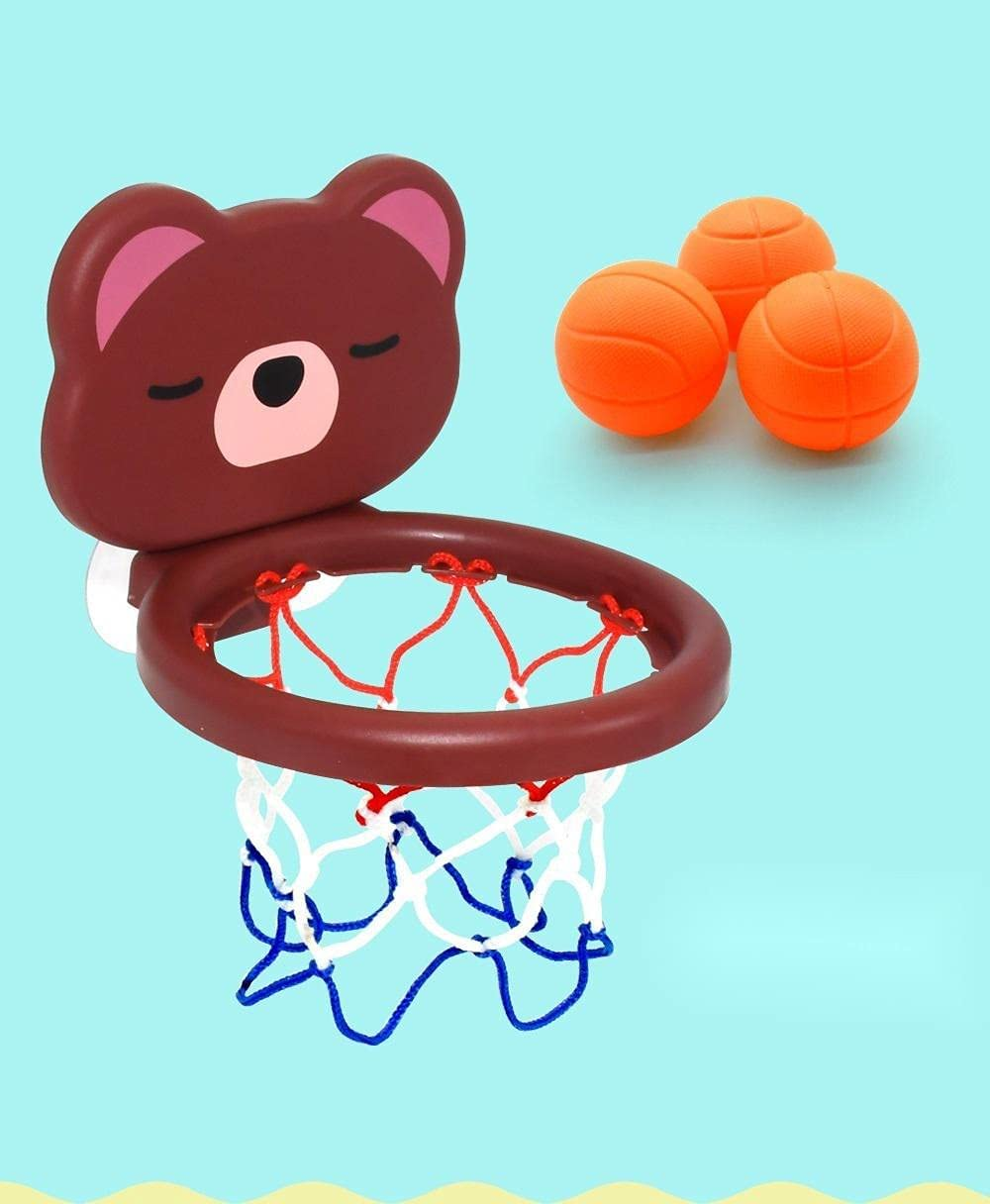 Soldering YOUMIYH Cute Baby Mini Shooting Popularity Bathtub Basketball 3 Bo Set Ball
