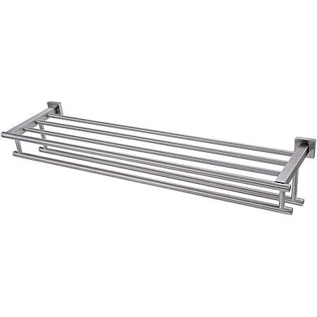 Ancho Ajustable 26-40cm//10.2-15.7in Toallero Extensible Soporte para Toallas de Acero Inoxidable de Doble Capa Cuelgue en Las Puertas para el ba/ño Toallas de Cocina Toallas