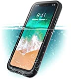i-Blason Case for iPhone X (2017) / iPhone Xs (2018), Aegis Waterproof Full-body Rugged Case with Built-in Screen Protector (Frost/Black)