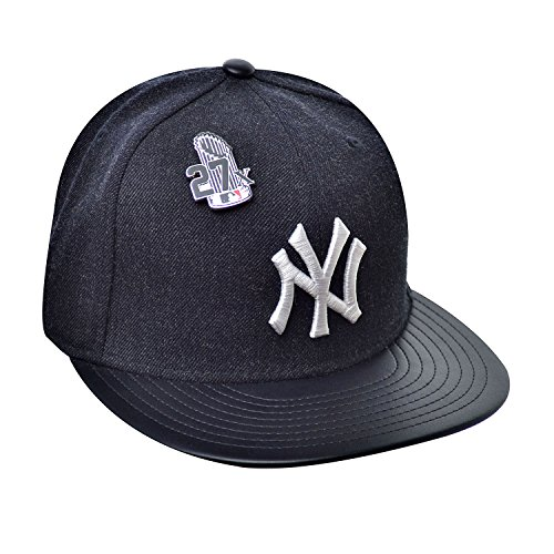 New Era 59Fifty Hat New York Yankees Pin 27X Trophy MLB Navy Blue Fitted Cap (7 1/8)