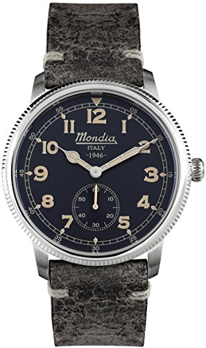 Mondia italy 1946 small second orologio Uomo Analogico Al quarzo con cinturino in Pelle di vitello MI755-2CP