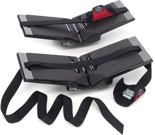The Kayak Wing - Sea Kayak Rack with Covered Straps for Boats Under 30' Wide by...