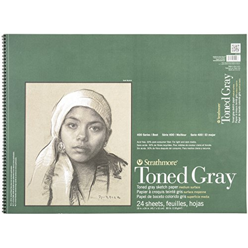 Strathmore 412-118 400 Series Toned Gray Sketch Pad